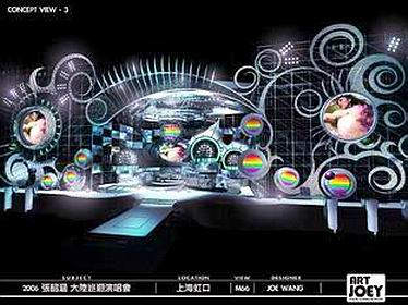 Angella World Tour Concert 2006 China Stage Design