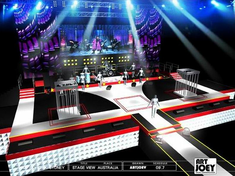 stage design plot concert stage design jay chou world tour concert 2009 sydney australia pic 1 - Concert Stage Design Ideas