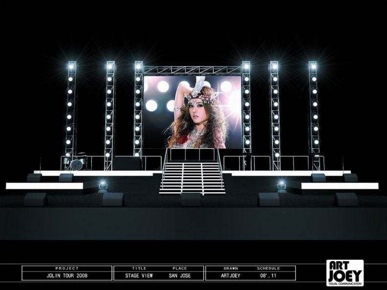 Jolin World Tour Concert 2008 Moheagan U S A Stage Design By Artjoey Visua