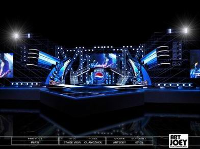Pepsi band award 2009 final round guangzhou china for Tisch design for stage and film